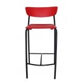 cadeira alta com encosto para cozinha