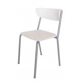 cadeira de cozinha cromada
