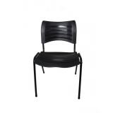 cadeiras plástica fixa empilhável iso preta bonilhia