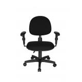 cadeiras secretária giratória com braços reguláveis preta Vila Costa Melo