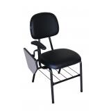 cadeiras universitária com prancheta dobrável Lapa
