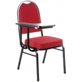 cadeiras universitária com prancheta frontal Cidade Dutra