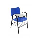 cadeira universitária azul