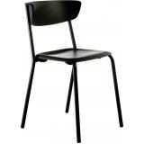 comprar cadeira preta para cozinha Alumínio