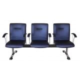 loja de cadeira para recepção 3 lugares Americana