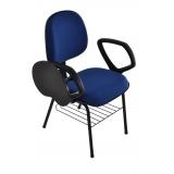 loja de cadeira universitária estofada com prancheta escamoteável Centro