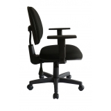 loja para cadeira secretária giratória com braços reguláveis preta Vila Butantã