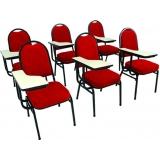 poltrona para auditório com prancheta escamoteável