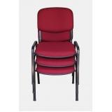 qual o preço cadeira estofada para igreja Brasilândia