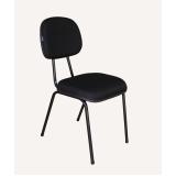 qual o preço cadeira preta estofada Jardim América