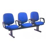 qual valor de cadeira longarina com braço Vila União