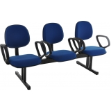 quanto custa cadeira longarina 4 lugares Cambuci