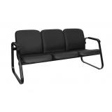 sofá para recepção 3 lugares preço Votuporanga