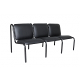 sofá para recepção de escritório 3 lugares Vila Élvio