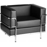 sofá para recepção escritório 3 lugares Campo Grande