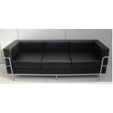 sofá para recepção 3 lugares